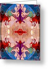 Drenched In Awareness Abstract Healing Artwork By Omaste Witkows Greeting Card