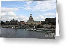 Dresden And River Elbe - Germany Greeting Card