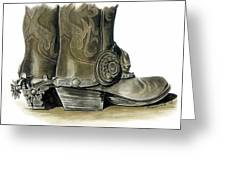 Dress Boots Greeting Card