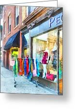 Hoboken Nj Dress Shop Greeting Card