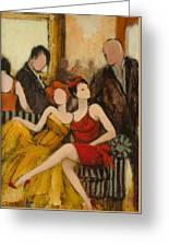 Dress To Impress Greeting Card by Jennifer Croom