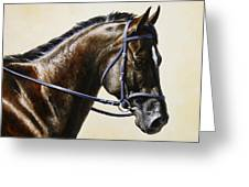 Dressage Horse - Concentration Greeting Card