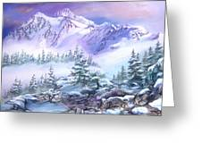 Dressed In White Mount Shuksan Greeting Card