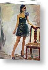Dressed Up Girl Greeting Card