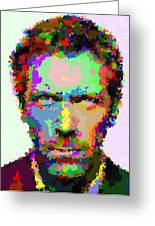Dr. House Portrait - Abstract Greeting Card