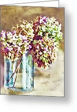 Dried Autumn Hydrangeas - Digital Paint Greeting Card