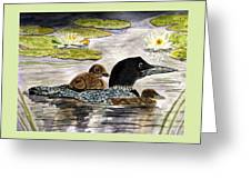 Drifting Among The Waterlilies Greeting Card