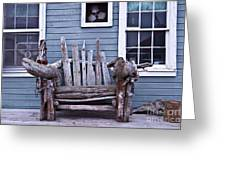 Driftwood Bench Greeting Card