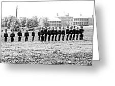 Drilling Soldiers Jefferson Barracks Us Army C 1895 Greeting Card