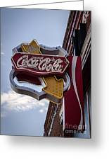 Drink Coca Cola Sign Greeting Card