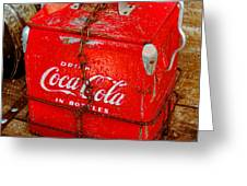 Drink Coke In Bottles Greeting Card