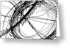 Drippy Circles Black Greeting Card