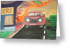 Drive In  Greeting Card