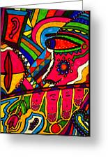 Driven To Abstraction - Parts And Pieces Greeting Card