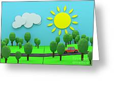 Driving Through Countryside Greeting Card