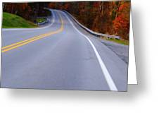 Driving Through Fall Greeting Card