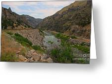 Driving Through Wind River Canyon Greeting Card