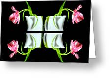 Droopy Tulips Greeting Card