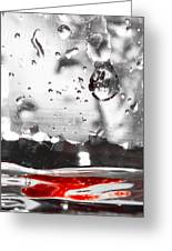 Drops Of Water With Red Greeting Card