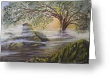 Druid's Altar At Mystic River Greeting Card