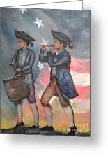 Drum And Fife Player Greeting Card