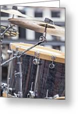 Drum Kit Set Closeup Greeting Card