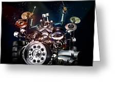 Drum Machine - The Band's Engine Greeting Card by Alessandro Della Pietra