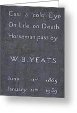 Wb Yeats -one Of Irelands  Greatest Poets Greeting Card