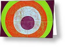 Drunk Circles Seven Greeting Card