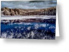 Dry Lagoon Blues Greeting Card