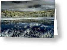 Dry Lagoon Winter Greeting Card