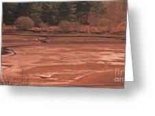 Dry Reservoir  Greeting Card