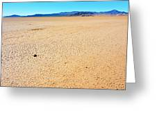 Dry Soil In Death Valley - Color Greeting Card