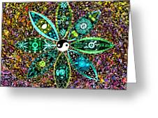 Dualing Eyepposites - Inversion Greeting Card by Dave Migliore