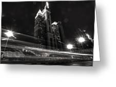 Dubai Night Street Rush Greeting Card