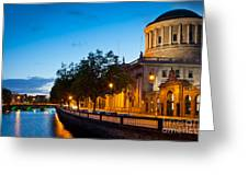 Dublin Four Courts Greeting Card