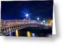 Dublin - Ha'penny Bridge  Greeting Card