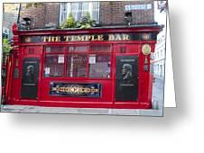 Dublin Ireland - The Temple Bar Greeting Card