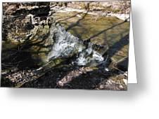 Dublin Ohio Waterfall In Spring 1 Greeting Card