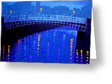 Dublin Starry Nights Greeting Card