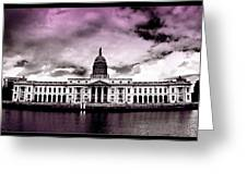Dublin - The Custom House - Lilac Greeting Card
