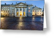 Dublin Trinity College Chapel At Night Greeting Card by Mark E Tisdale