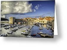 Dubrovnik Harbor Greeting Card