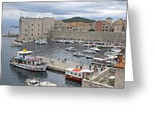 Dubrovnik Old Harbour Greeting Card