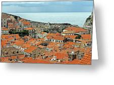 Dubrovnik Rooftops And Walls Greeting Card