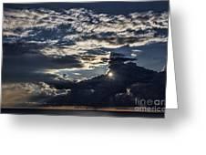 Dubrovnik Sunset Starburst Greeting Card