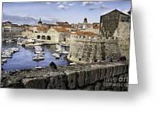 Dubrovnik Walls Greeting Card