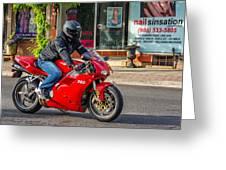 Ducati 748 Greeting Card
