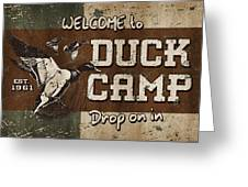 Duck Camp Greeting Card