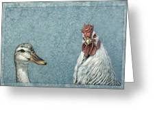 Duck Chicken Greeting Card